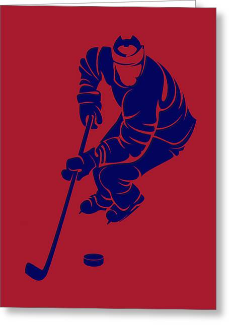 Montreal Canadiens Greeting Cards - Canadiens Shadow Player3 Greeting Card by Joe Hamilton