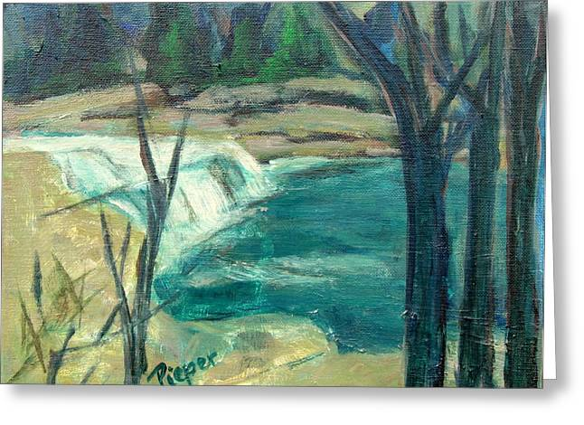 Deceptive Greeting Cards - Canajoharie Creek near Village Greeting Card by Betty Pieper