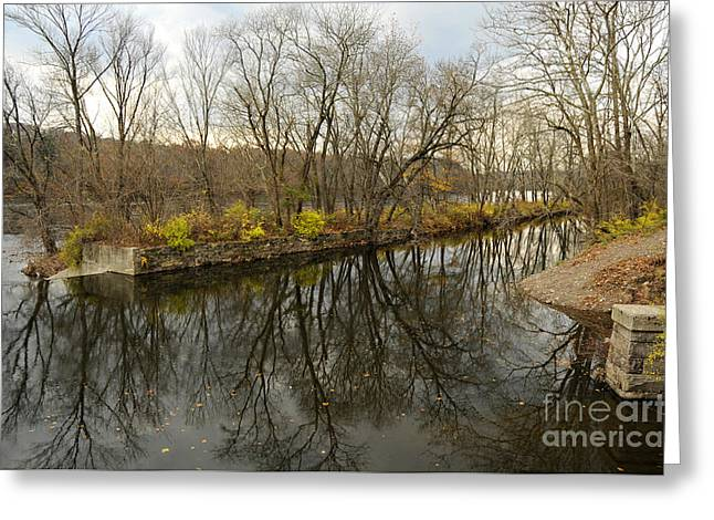 Stockton Greeting Cards - Canal at Prallsville Greeting Card by Addie Hocynec