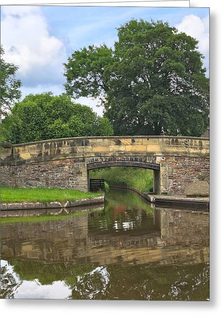 Welsh Waterways Greeting Cards - Canal Bridge Greeting Card by Jane McIlroy