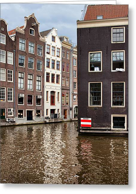 Old Home Place Greeting Cards - Canal Buildings in Amsterdam Greeting Card by Artur Bogacki