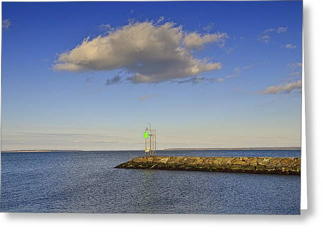 Clounds Greeting Cards - Canal Cloud Greeting Card by Tim Doubrava