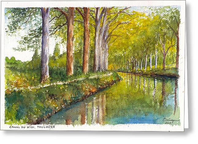 Midi Greeting Cards - Canal du Midi at Toulouse France Greeting Card by Dai Wynn