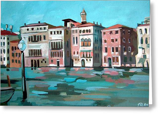 Canal Grande Greeting Card by Filip Mihail