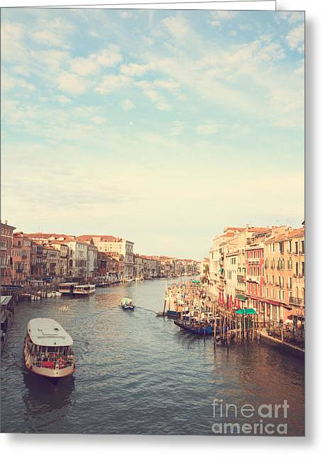 Vaporetto Greeting Cards - Canal grande in Venezia Greeting Card by Matteo Colombo
