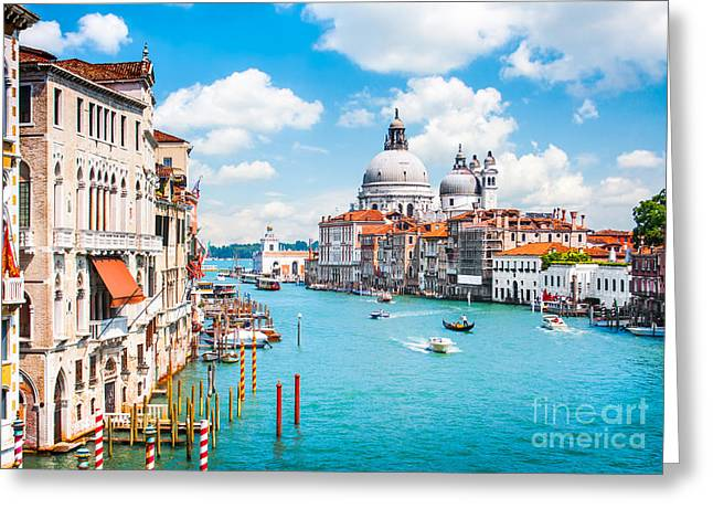 Accademia Greeting Cards - Canal Grande in Venice Greeting Card by JR Photography