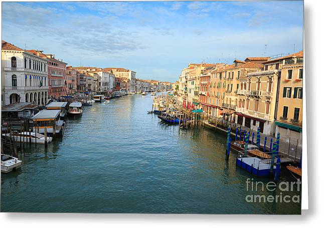 Vaporetto Greeting Cards - Canal grande in Venice Greeting Card by Matteo Colombo