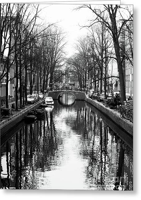 Canal Prints Greeting Cards - Canal Greeting Card by John Rizzuto