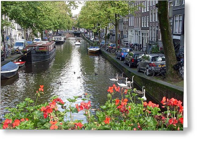Amsterdam Greeting Cards - Canal of Love Greeting Card by Mike Podhorzer