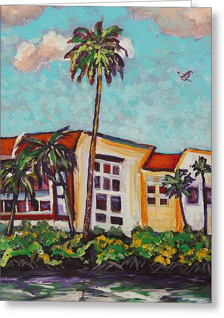Eve Wheeler Greeting Cards - Canal Palms Greeting Card by Eve  Wheeler