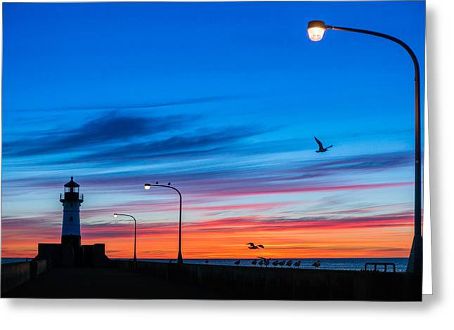Canal Park Greeting Cards - Canal Park Sunrise Greeting Card by Mark Goodman