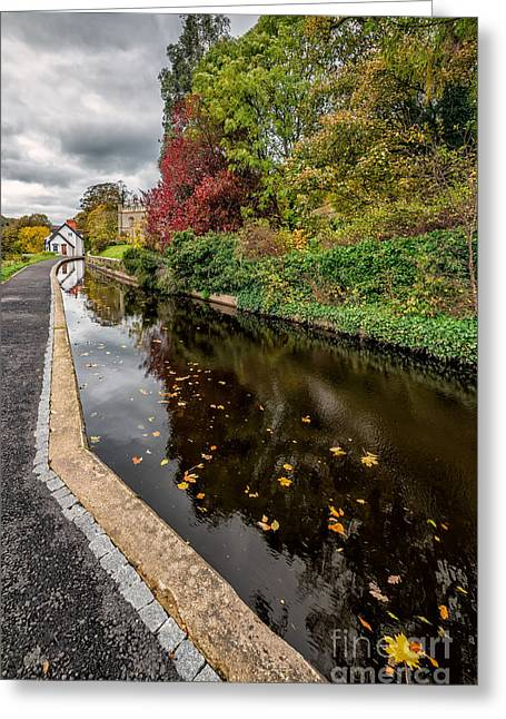 Tow Greeting Cards - Canal Path Greeting Card by Adrian Evans