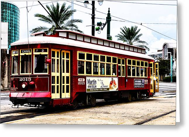 Canal Street Greeting Cards - Canal Street Car Greeting Card by Bill Cannon