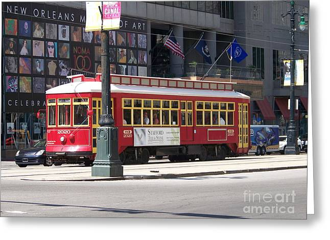 Kevin Croitz Greeting Cards - Canal Street Streetcar Greeting Card by Kevin Croitz