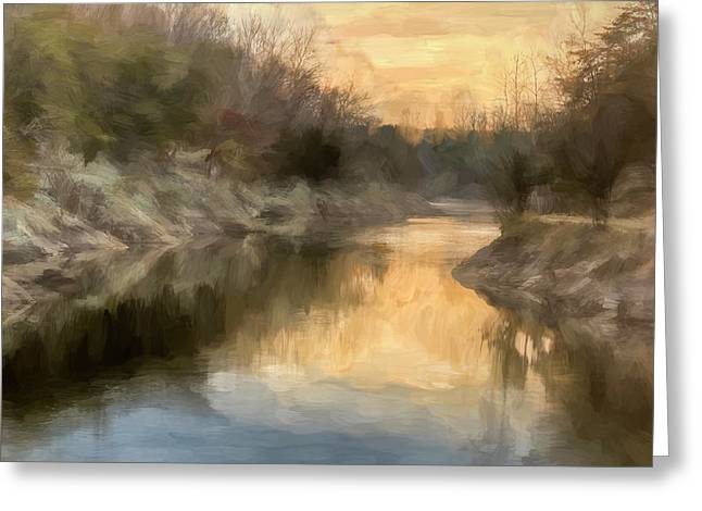 Francis Greeting Cards - Maryland Canal Sunrise Greeting Card by Francis Sullivan