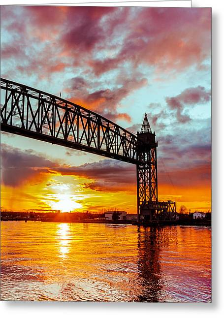 Canal Sunset Greeting Card by Dean Martin