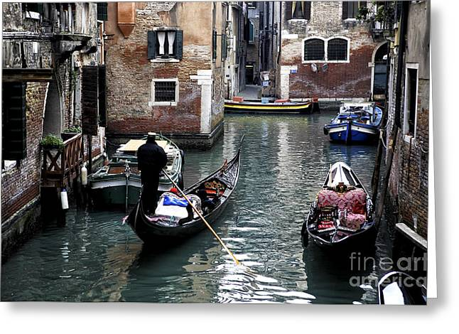 Canal Prints Greeting Cards - Canal Transportation Greeting Card by John Rizzuto