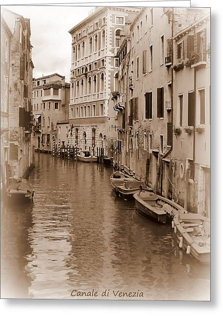 Venice Greeting Cards - Canale di Venezia Greeting Card by Bishopston Fine Art