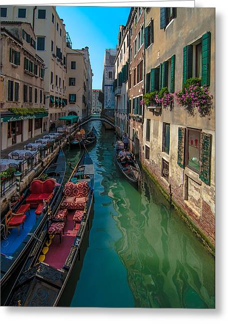 Historical Images Greeting Cards - Canals of Venice  Greeting Card by Amel Dizdarevic