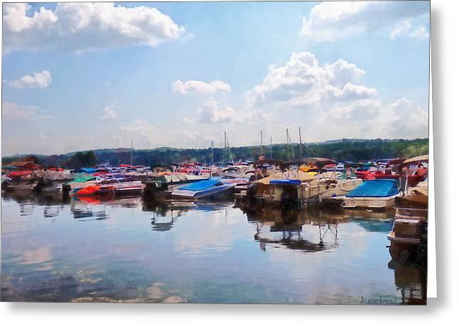 Canandaigua Lake Greeting Cards - Canandaigua City Pier Greeting Card by Susan Savad