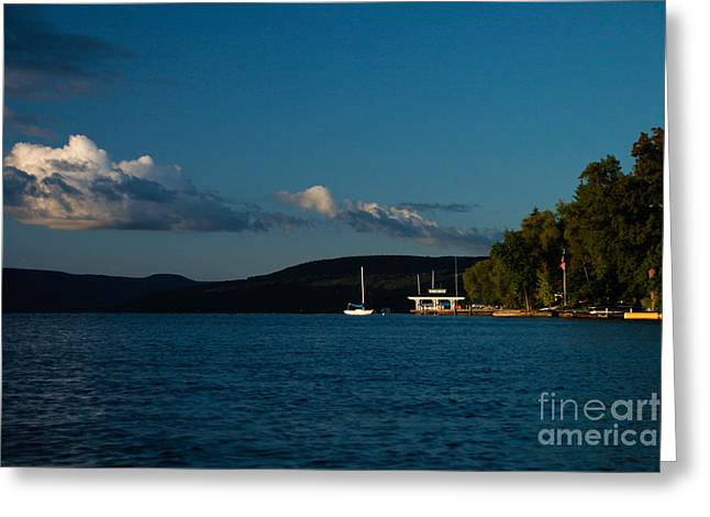 Canandaigua Greeting Cards - Canandaigua Lake Home Greeting Card by Steve Clough