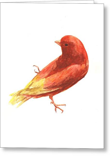 Canary Greeting Cards - Canary Charm Greeting Card by Alison Fennell