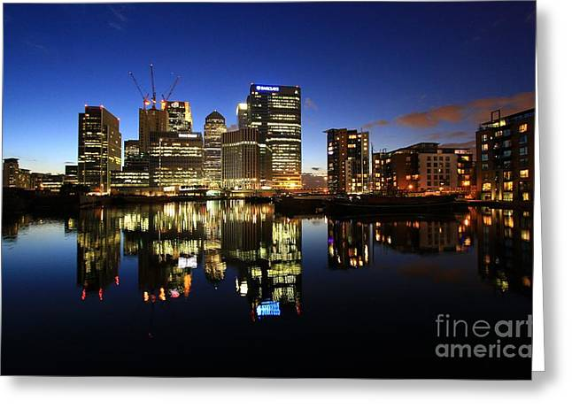 Reflection In Water Greeting Cards - Canary Wharf 8 Greeting Card by Mariusz Czajkowski