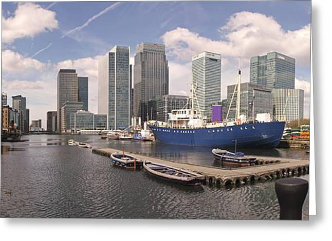 Colin Hogan Greeting Cards - Canary Wharf - ref 615 Greeting Card by Colin Hogan