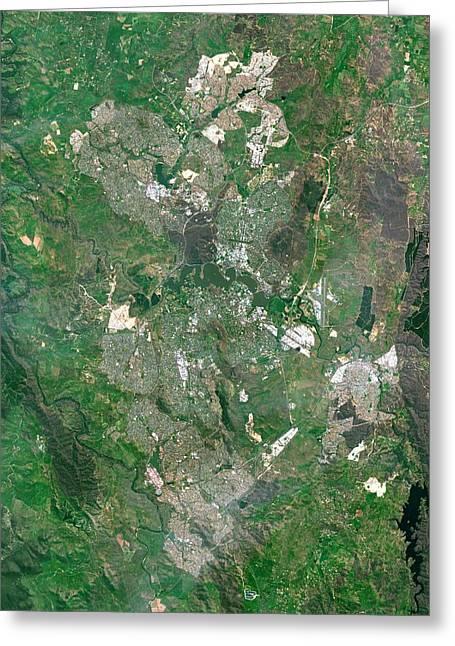 Canberra Greeting Card by Planetobserver