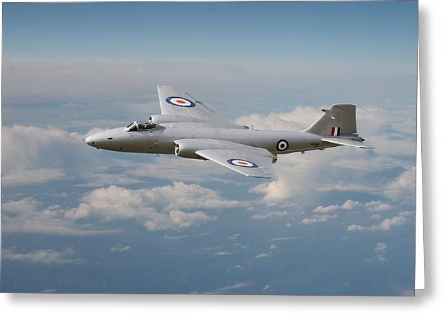 Raf Greeting Cards - Canberra PR9 -  Up where she belongs Greeting Card by Pat Speirs