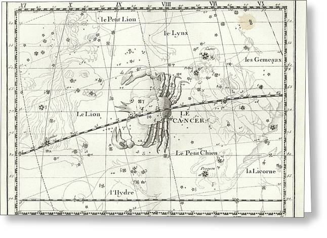 Cancer Constellation Greeting Card by Us Navy
