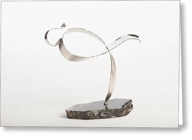 Silver Sculptures Greeting Cards - Cancer Survivor -1 Greeting Card by Jon Koehler