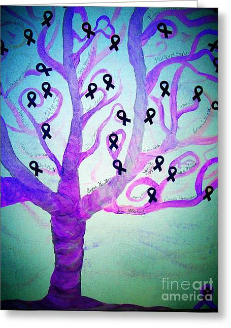 Greeting Cards For Cancer Greeting Cards - Cancer Survivors Tree Greeting Card by Jackie Bodnar