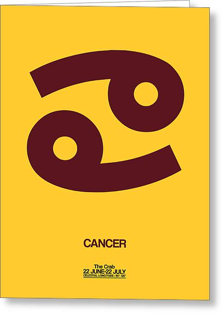 Zodiac. Greeting Cards - Cancer Zodiac Sign Brown Greeting Card by Naxart Studio
