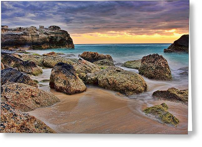 Up And Coming Greeting Cards - Cancun Coastal Sunrise Greeting Card by Marcia Colelli