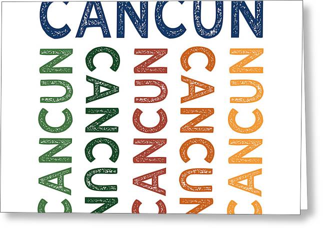 Cancun Cute Colorful Greeting Card by Flo Karp