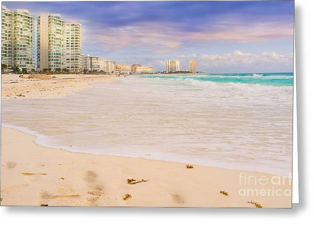 Cancun Greeting Cards - Cancun Mexico Greeting Card by Jonas Luis