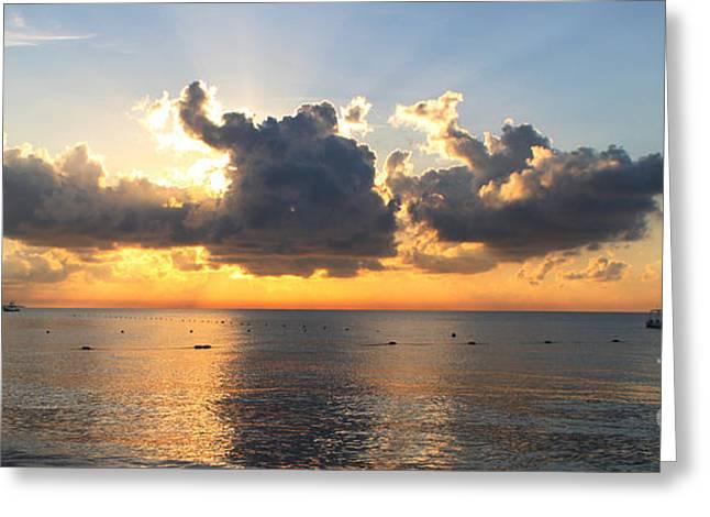 Cancun Greeting Cards - Cancun Sunrise 4457 Greeting Card by Jack Schultz