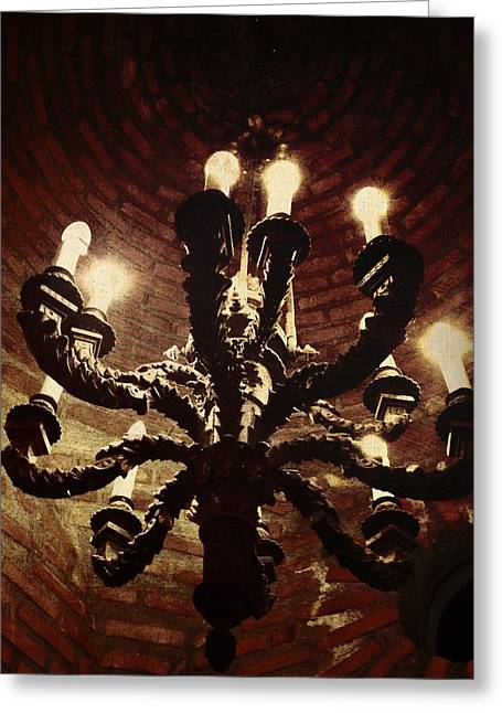 Candelabra Greeting Cards - Candelabra Greeting Card by Natasha Marco