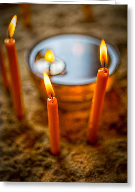 Hope At The End Of The Tunnel Greeting Cards - Candels 4 Greeting Card by Dobromir Dobrinov