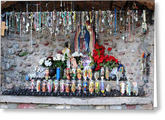 Candel Greeting Cards - Candels and Rosaries Greeting Card by Carla P White