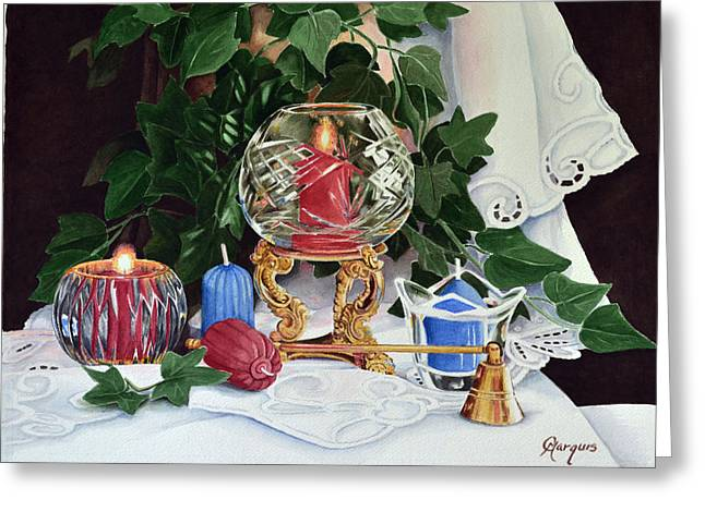 Candel Greeting Cards - Candels Greeting Card by Colleen Marquis