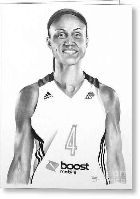 Ncaa Drawings Greeting Cards - Candice Dupree Pree Greeting Card by Devin Millington