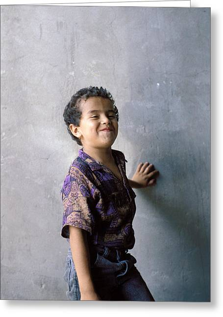 Impartial Greeting Cards - Candid Little Boy Greeting Card by Mark Goebel