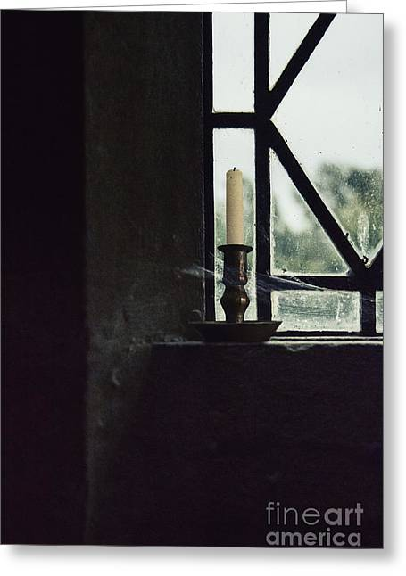Candleholder Greeting Cards - Candle in the Window Greeting Card by Margie Hurwich