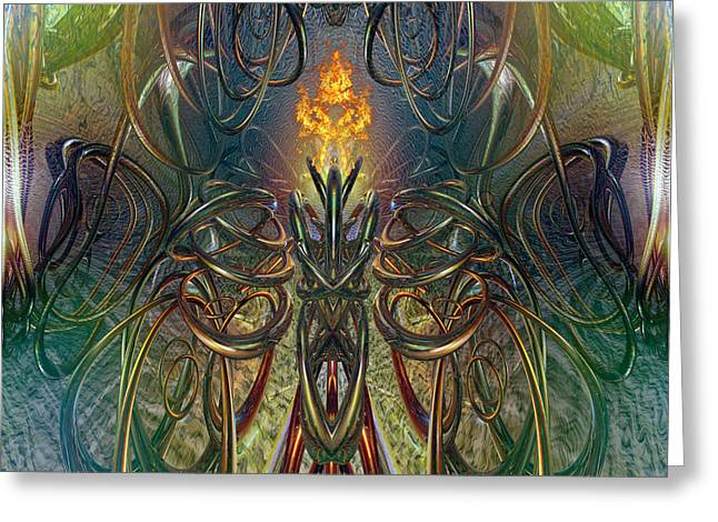 Tion Greeting Cards - Candle Light Abstract Fire Chaos Fx  Greeting Card by G Adam Orosco