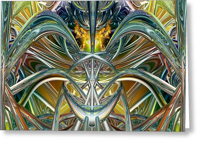 Tion Greeting Cards - Candle Light Abstract Flame Fx  Greeting Card by G Adam Orosco