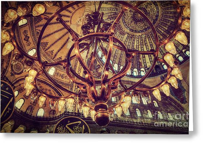 Aya Sofia Greeting Cards - Candle Light Glow Greeting Card by Emily Kay