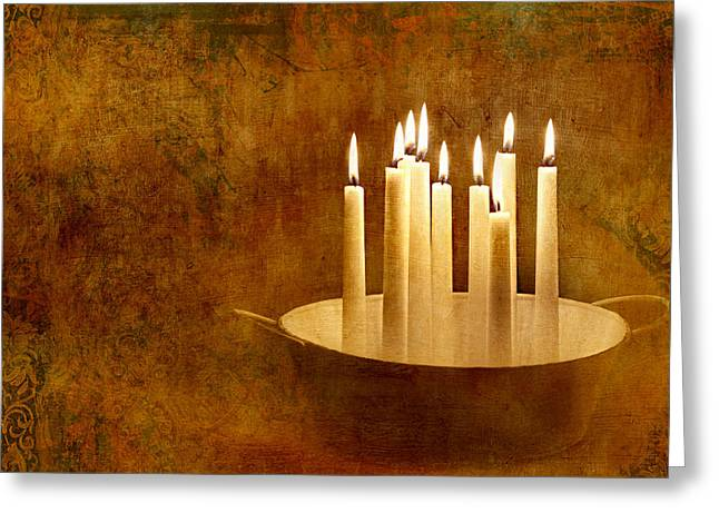 Candle Lit Greeting Cards - Candle Light Greeting Card by Heike Hultsch
