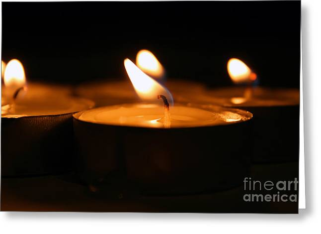 Saint Hope Greeting Cards - Candle Lights Greeting Card by Dan Radi